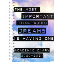 A5 Important Dreams Day a Page 2020-21 Academic Diary