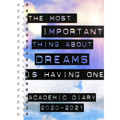 A5 Important Dreams Day a Page 2020-21 Academic Diary image number 1