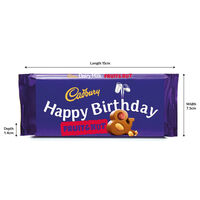 Cadbury Dairy Milk Fruit & Nut Chocolate Bar 110g - Happy Birthday