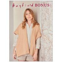 Hayfield Bonus DK: Cabled Edged Shawl Knitting Pattern 10273