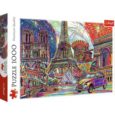 Colours of Paris 1000 Piece Jigsaw Puzzle image number 1