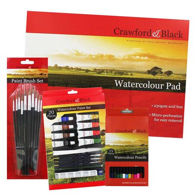 Watercolour Art Essentials Bundle image number 1