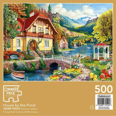 House By The Pond 500 Piece Jigsaw Puzzle image number 3