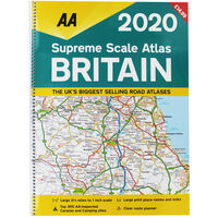 AA: Supreme Scale Atlas Britain 2020