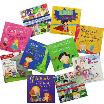 Fairy Tales and Nursery Rhymes: 10 Kids Picture Books Bundle image number 1