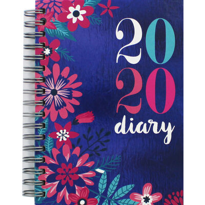 A6 Wiro Floral 2020 Week to View Diary image number 1
