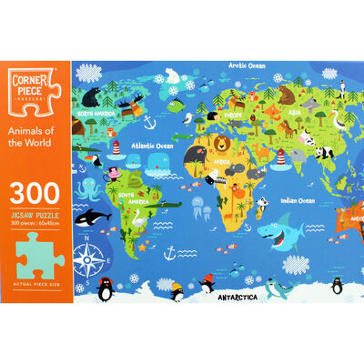 Animals of the World 300 Piece Jigsaw Puzzle image number 2