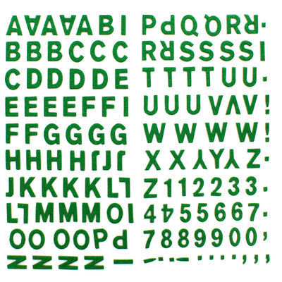 Green Glitter Letters Thick Christmas Stickers image number 2
