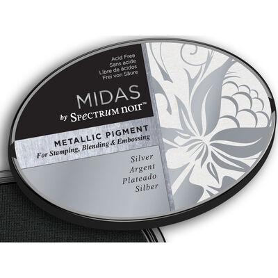 Midas by Spectrum Noir Metallic Pigment Inkpad - Silver image number 4