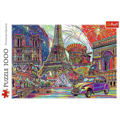 Colours of Paris 1000 Piece Jigsaw Puzzle image number 2