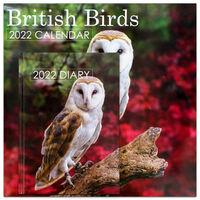 British Birds 2022 Square Calendar and Diary Set
