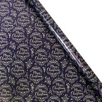 Assorted Navy Christmas Roll Gift Wrap: 5m