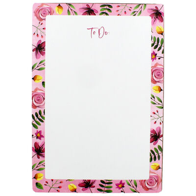 A4 Floral Dry Wipe To Do List Board with Pen image number 2