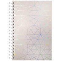 A5 Wiro Holographic Triangle Lined Notebook