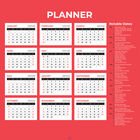 Month To View 2021 Giant Print Planner image number 2