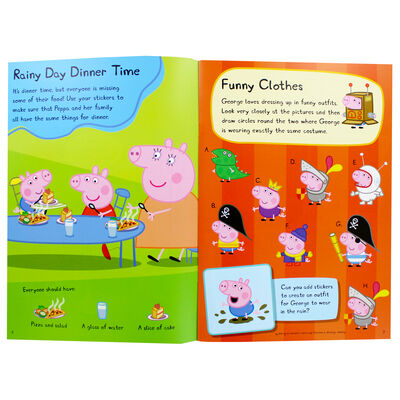 Peppa Pig: Rainy Day Sticker Activity Book image number 2