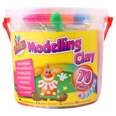 Modelling Clay: 70 Piece Set image number 1