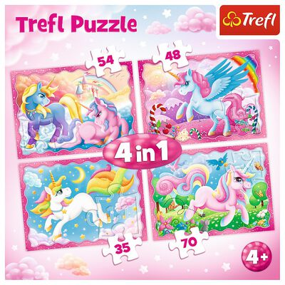 Unicorn 4-in-1 Jigsaw Puzzle Set image number 2