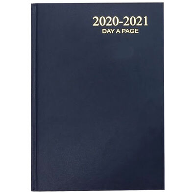 A5 Blue Week To View 2020-21 Academic Diary image number 1