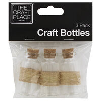 Craft Glass Bottles: Pack of 3