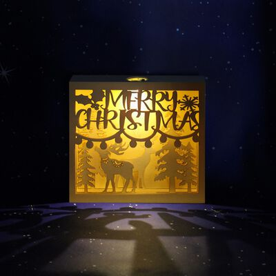 LED Wooden Christmas Scene image number 3