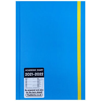 A5 Blue and Yellow 2021-2022 Week to View Diary image number 1