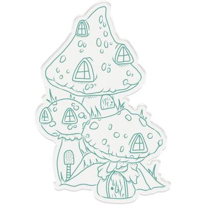 Natures Garden Fairy Garden Stamp and Die - Toadstool Village image number 2