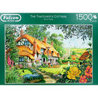 The Thatchers Cottage 1500 Piece Jigsaw Puzzle image number 2