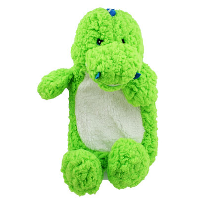 Green Snuggly Dinosaur Hot Water Bottle image number 2