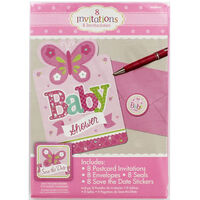 8 Pink Baby Shower Invitations