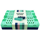 Blue and Turquoise Foldable Storage Crates: Pack of 2 image number 3