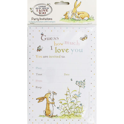 Guess How Much I Love You Party Invitations - Pack of 10 image number 1