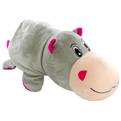 Reversimals 2-in-1 Plush Soft Toy - Zebra and Hippo image number 3