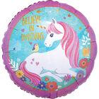 18 Inch Unicorn Helium Balloon image number 1