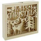 LED Wooden Christmas Scene image number 1