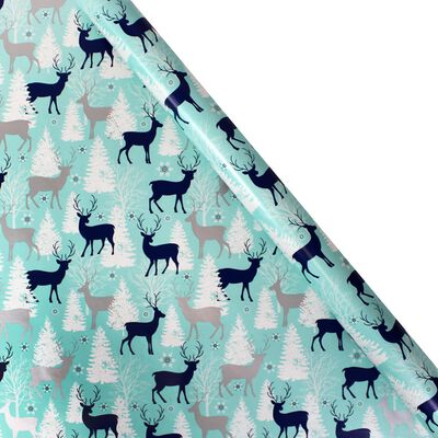 Assorted Navy Christmas Themed Roll Gift Wrap - 5m image number 2