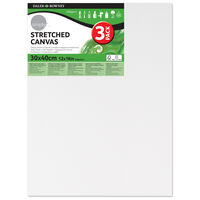 Stretched Canvases 12'' x 16'' Pack of 3