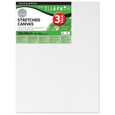 Stretched Canvas 12'' x 16'' Pack of 3 image number 1