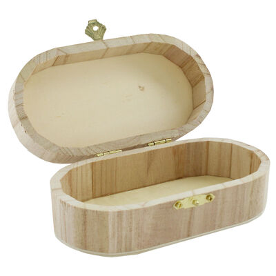Curved Edge Wooden Box image number 4