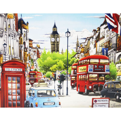 London Street 500 Piece Jigsaw Puzzle image number 2