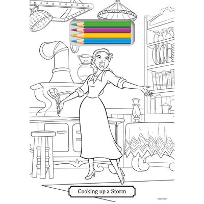 Disney Princess Tear Off Colouring Pad image number 2