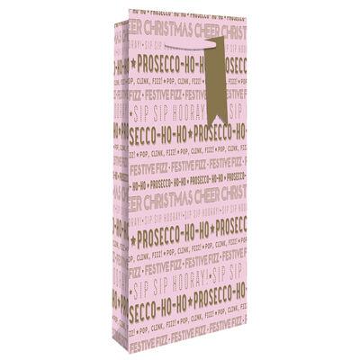 Pink Prosecco Ho Ho Bottle Gift Bag image number 1