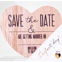 Save the Date Wooden Magnets: Pack of 8