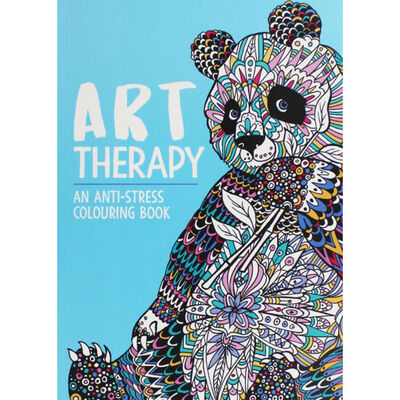 Art Therapy Colouring Book and Pens Bundle image number 3