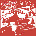 Christmas Wishes Craft A Card Metal Cutting Die image number 2