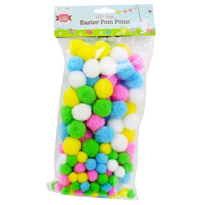 Easter Pom Poms - 200 Pack image number 1