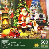 Santa Claus By The Fireplace 500 Piece Jigsaw Puzzle