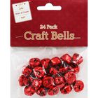 Red Metallic Jingle Bells: Pack of 24 image number 1