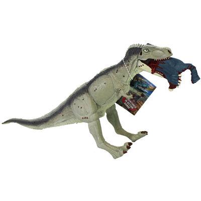 Grey Tyrannosaurus Rex Dinosaur Figurine image number 1