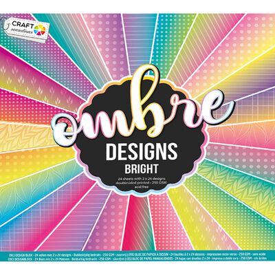 Ombre Designs Paper Pad - 30cm x 30cm - Assorted image number 2